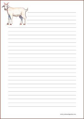 Goat - writing papers (A4, 10s) #1