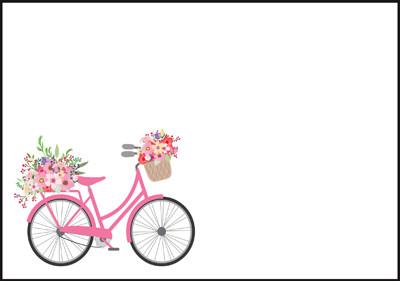 Polkupyörä - kirjekuori (C6) #2