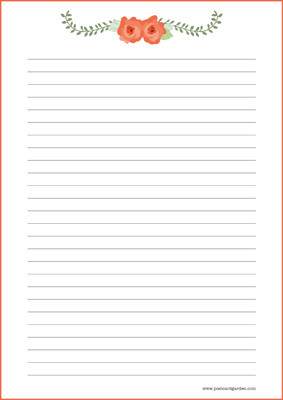 Kukat - kirjepaperit (A5, 10s) #7