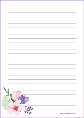 Flowers - writing papers (A4, 10s) #9