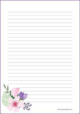 Kukat - kirjepaperit (A4, 10s) #9