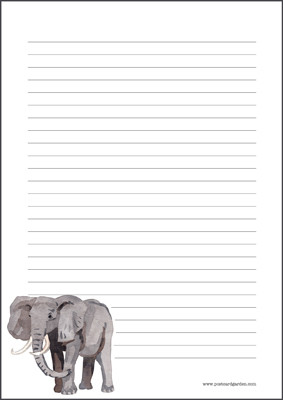 Elephant - writing papers (A5, 10s) #1