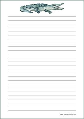 Krokotiili - kirjepaperit (A4, 10s) #1