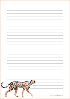 Cheetah - writing papers (A5, 10s) #1