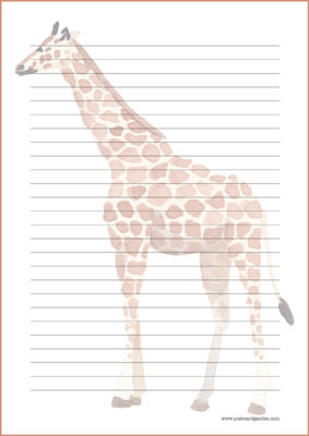 Giraffe - writing papers (A4, 10s) #1