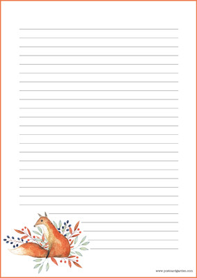 Fox - writing papers (A5, 10s) #5