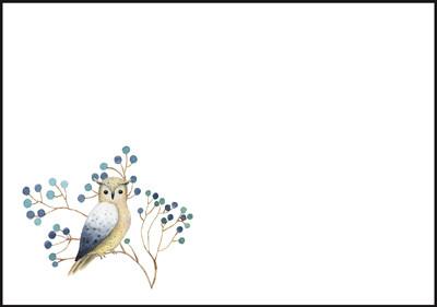 Pöllö - kirjekuori (C6) #4