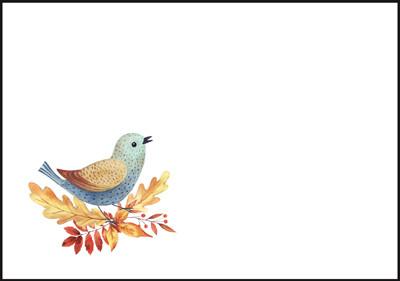 Bird - envelope (C6) #4