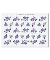 Sinikara Stationery - Flowers - lilac