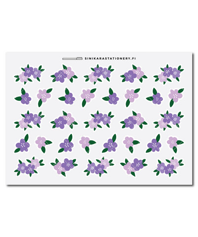 Sinikara Stationery - Flowers - lilac