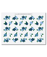 Sinikara Stationery - Flowers - blue