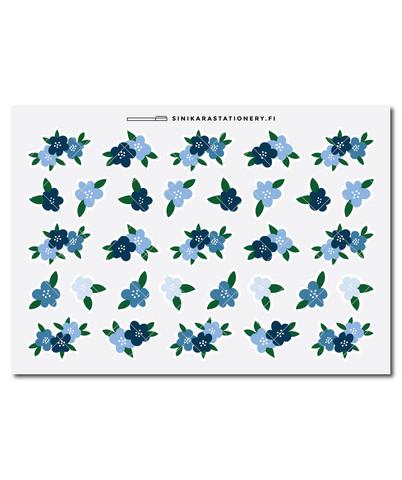 Sinikara Stationery - Kukat - sininen