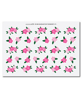 Sinikara Stationery - Flowers - pink