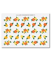 Sinikara Stationery - Flowers - yellow