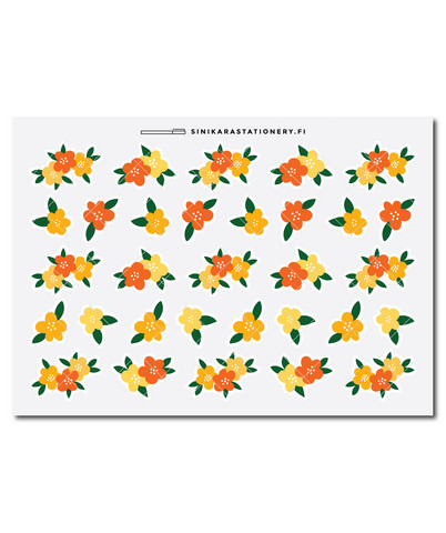 Sinikara Stationery - Flowers - yellow