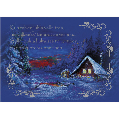 Joulukortti - Maisema #4