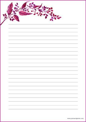 Syksyinen oksa - kirjepaperit (A5, 10s) #3