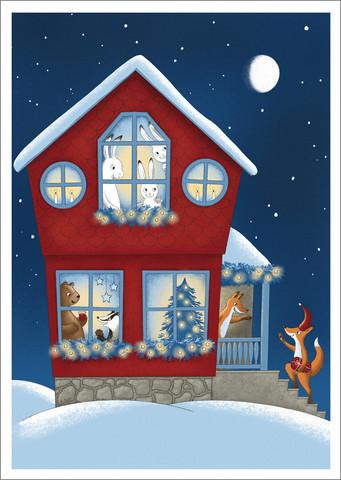 Mantelina - Christmas came to the house
