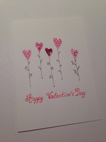 Happy Valentine's Day - heart flowers (A6) #2