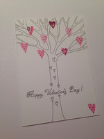 Happy Valentine's Day - heart tree (A6)