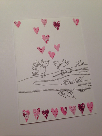 Birds and hearts (A6)