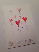 Love - heart flowers (A6)