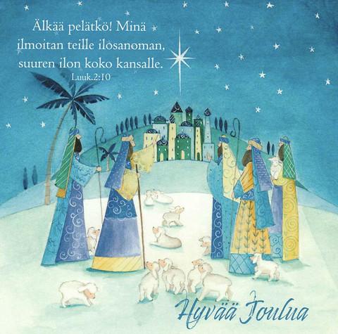 Christmas postcard - A child was born (square card 14x14cm) #6