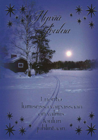 Christmas postcard - Snowy view #9