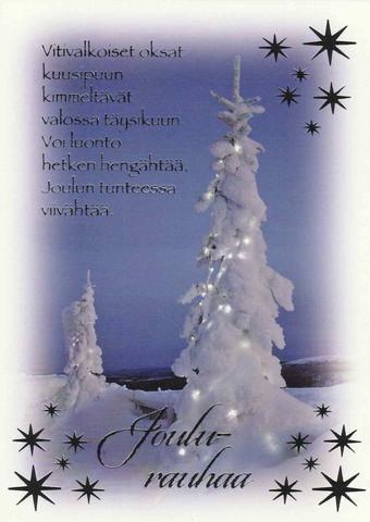 Christmas postcard - Snowy view #10