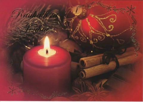 Joulukortti - Liekin tunnelmaa #2