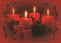 Christmas postcard - The atmosphere of the flame #3