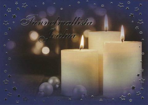 Joulukortti - Liekin tunnelmaa #4