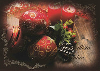 Christmas postcard - The atmosphere of the flame #10