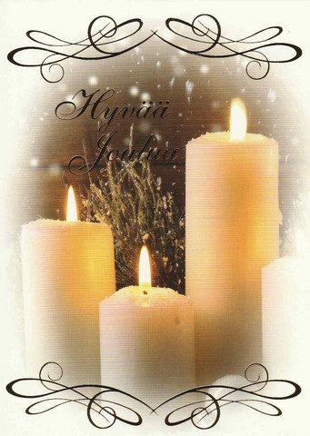 Christmas postcard - The atmosphere of the flame #14