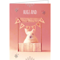 Hugs and kisses (9.7x13.3cm, incl. envelope)