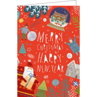 Merry Christmas & Happy New Year (17.5x12cm, incl. envelope)