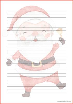 Joulupukki - kirjepaperit (A5, 10s) #1