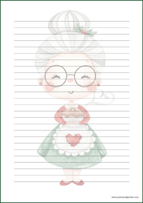 Santa's wife - writing papers (A5, 10s) #1