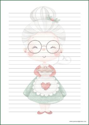 Joulumuori - kirjepaperit (A5, 10s) #1