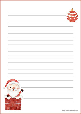 Joulupukki - kirjepaperit (A4, 10s) #2