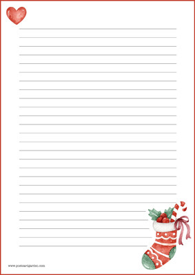 Christmas sock - writing papers (A5, 10s) #1