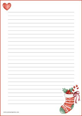 Joulusukka - kirjepaperit (A5, 10s) #1
