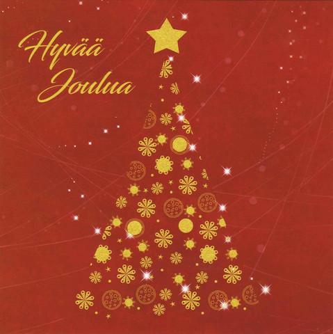 Christmas postcard - Twinkle the Christmas stars (square card 14x14cm) #4
