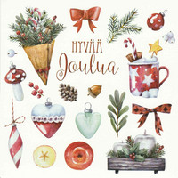 Christmas postcard - It feels like Christmas (square card 14x14cm) #6