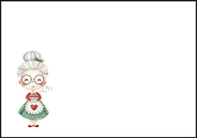 Santa's wife - envelope (C6) #1