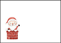 Santa Claus - envelope (C6) #3