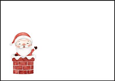 Santa Claus - envelope (C6) #3