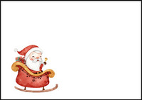 Santa Claus - envelope (C6) #4