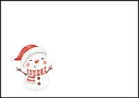 Snowman - envelope (C6) #3