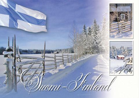Suomi-Finland lumimaisema #1